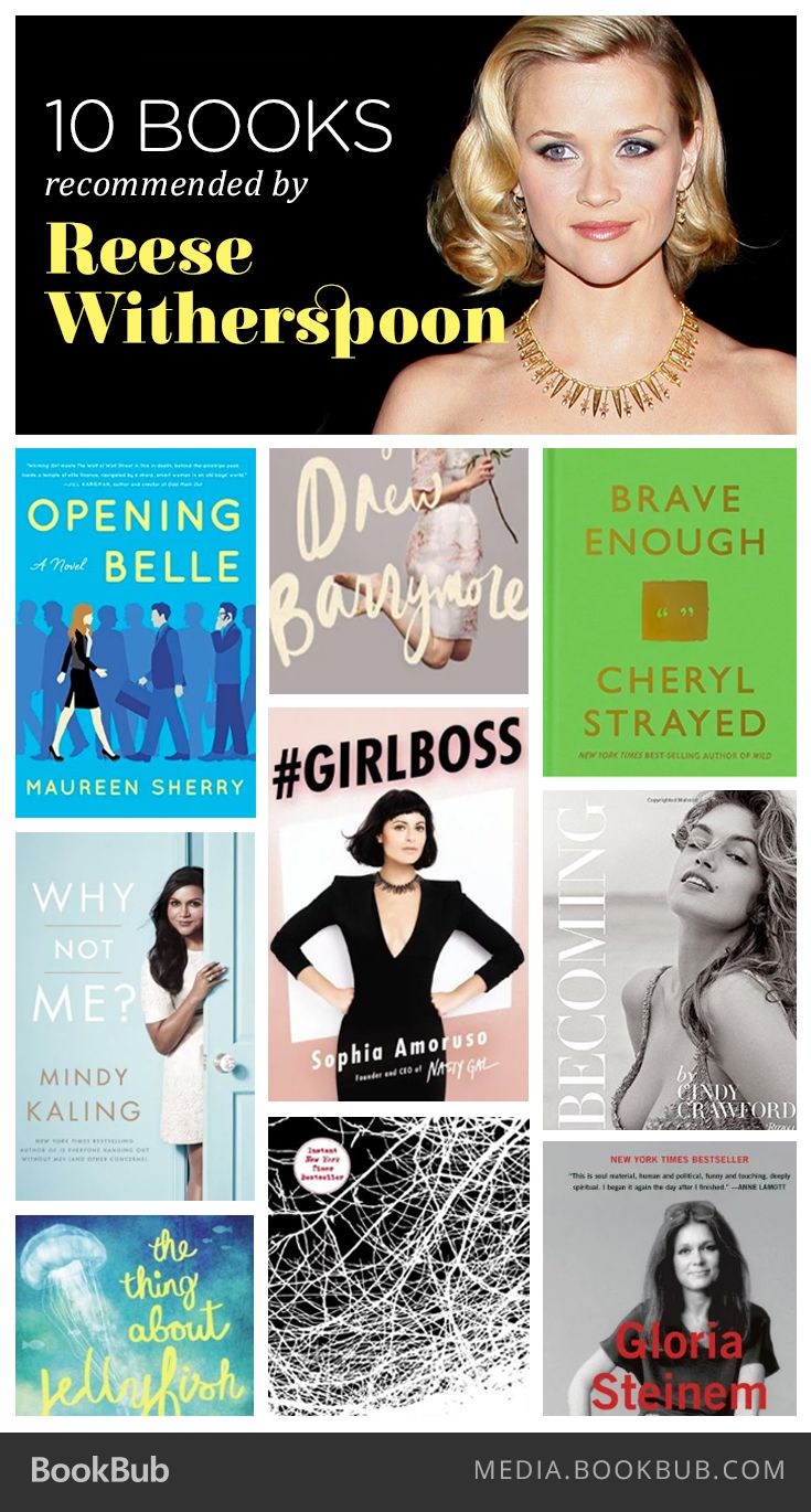 10 books recommended by self-proclaimed bookworm Reese Witherspoon. #RWBookClub