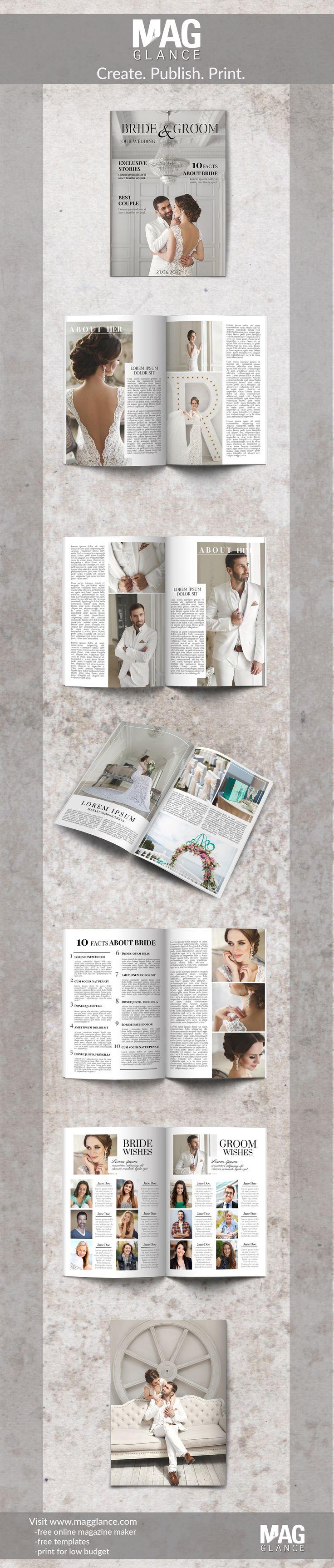 utwórz gazetkę ślubną w wersji online i wydrukuj w atrakcyjnej cenie pod  https://pl.magglance.com/gazetka-slubna/gazetka-slubna-utworz #gazetka #magazyn #gazetka ślubna #szablon #design #wzór #przykład #template #redaguj #utwórz #prezent ślubny #layout #pomysł