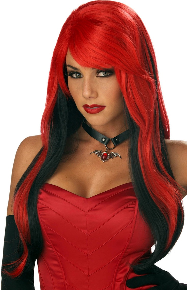 vampire vixen wig halloween wigs at escapade uk escapade fancy dress on twitter - Red Wigs For Halloween