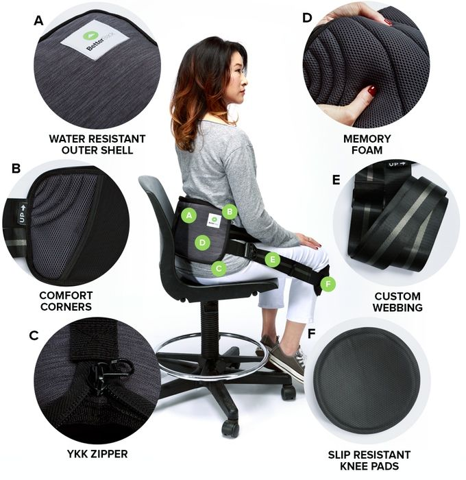BetterBack Therapy - Improve Posture and Back Pain Make every chair ergonomic! 15 mins/day to great posture. Heat your back for pain relief & healing.  Indiegogo