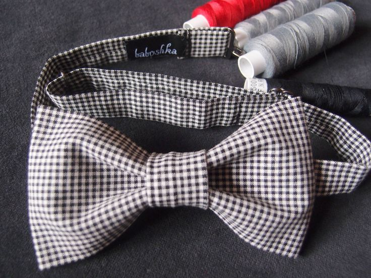 Checkered Bow tie for Men, Black White Bow tie for Women, Unisex Bow Tie, Gingham Bow Tie, Casual Bow tie, Checkered Pattern, Bachelor party by baboshkaa on Etsy
