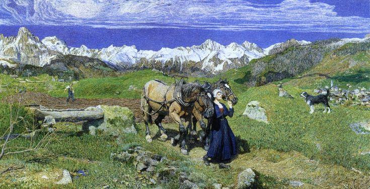 The Athenaeum - Springtime in the Alps (Giovanni Segantini - 1897)