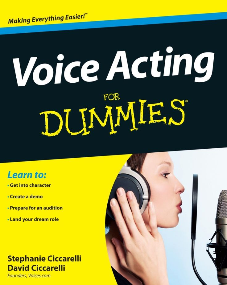 Voice Acting For Dummies (eBook) (With images) Voice