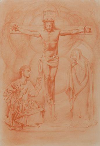 Ulisse Sartini,  Estudio para Crucifixión