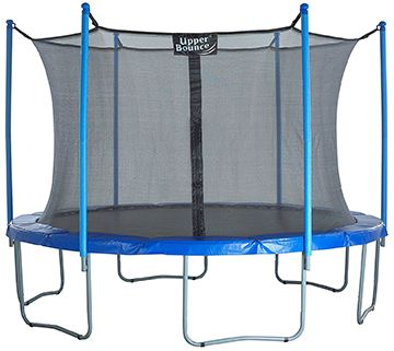 Trainor Sports Trampoline with Enclosure - Trainor is a popular Canadian trampoline brand with good track record, albeit unknown in the rest of the world. In fact, these are among the best selling trampolines on the Canadian market. Their 12 ft. trampoline was made with smaller backyards and budgets in mind, while still trying not to compromise on quality.  Click to read full review