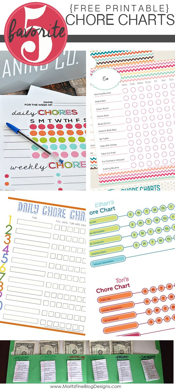 Do your kids struggle to get their daily and weekly chores done? Use one of these free printable chore charts to track your child's chores.