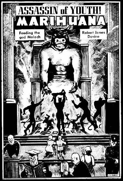 Hysteria assassin Moloch marijuana propaganda Public Domain www.HistoryThatRocks.com