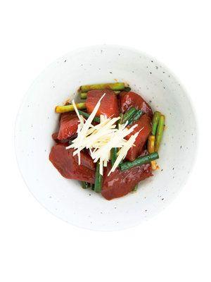 【ELLE a table】かつおとしょうがのユッケレシピ|エル・オンライン