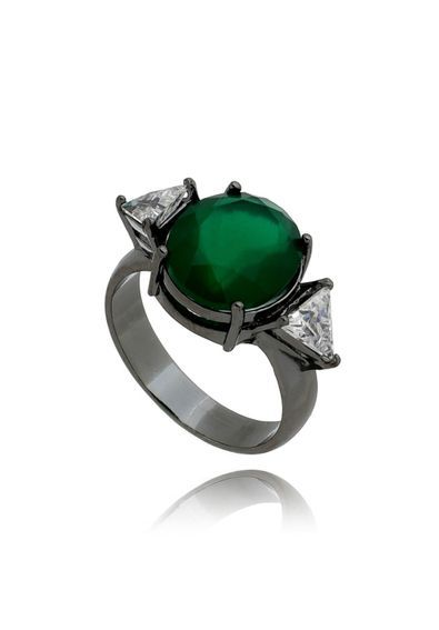 Anel-rodio-negro-com-pedra-verde-oval-semi-joia-de-luxo---16   Anéis ... 563c9a9b72