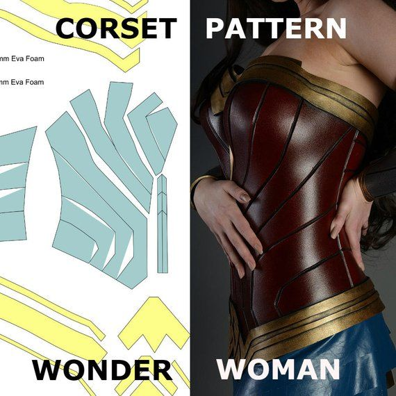 Wonder Woman Pattern Corset Template Costume Cosplay -3495