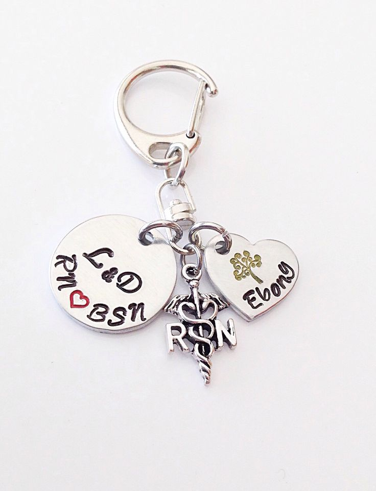 Nurse Gift with Nurse Charm. Nurse Necklace or Keychain. Nurse gift ideas for a labor and delivery. RN, BSN, CNM graduation gift A personal favorite from my Etsy shop https://www.etsy.com/listing/285735017/nurse-gift-with-nurse-charm-nurse
