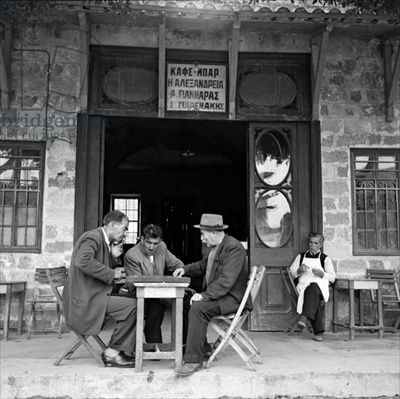 At the coffee shop, Rhodes, 1952, Photographer Dimitris Harissiadis (1911-93), Benaki Museum, Athens, Greece Harissiadis, Dimitris (1911-93)