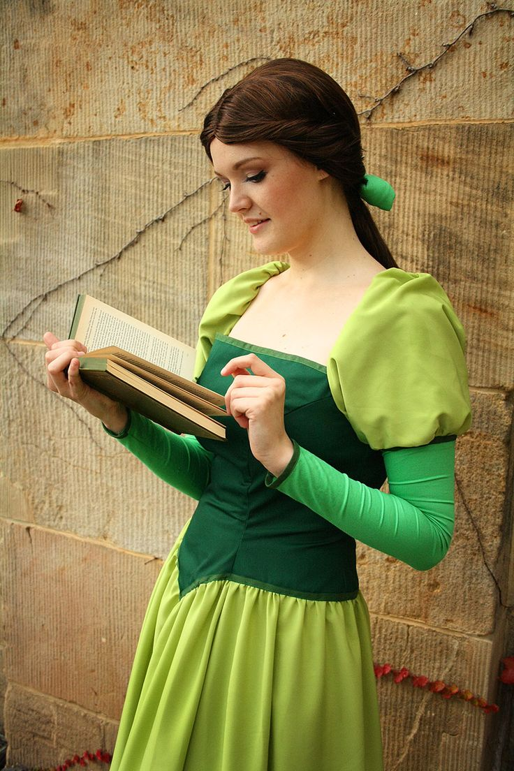 Belle Green Dress Cosplay Beauty And The Beast