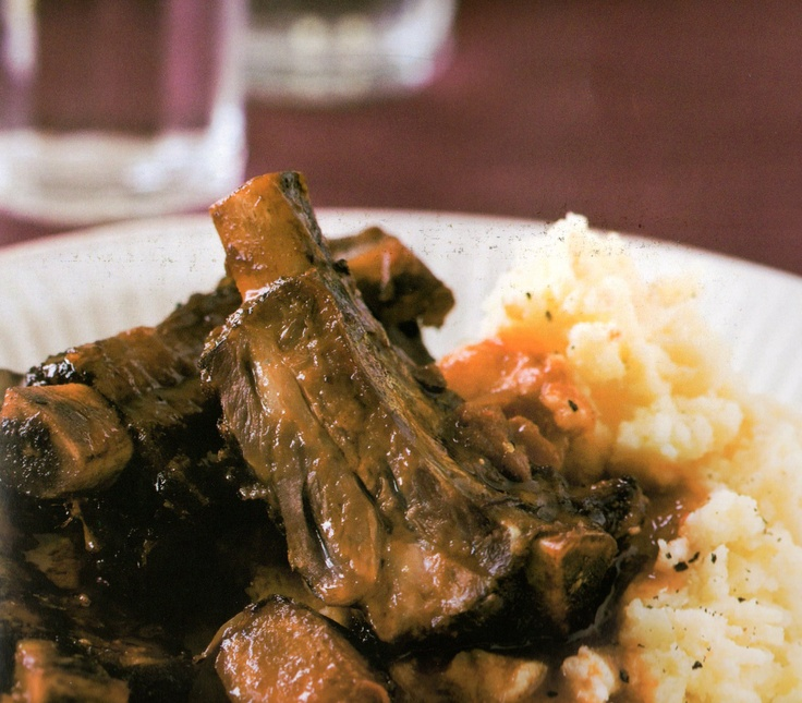Beef Ribs with Mashed Potatoes. An Irish Favorite.
