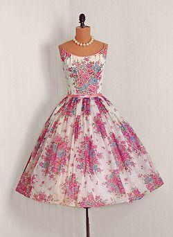 pretty fashion dress beautiful vintage 1950s 50s 50