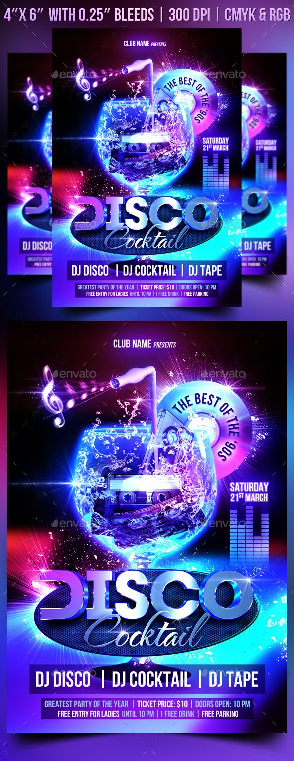 best ideas about dj electro party flyer flyer disco cocktail flyer template