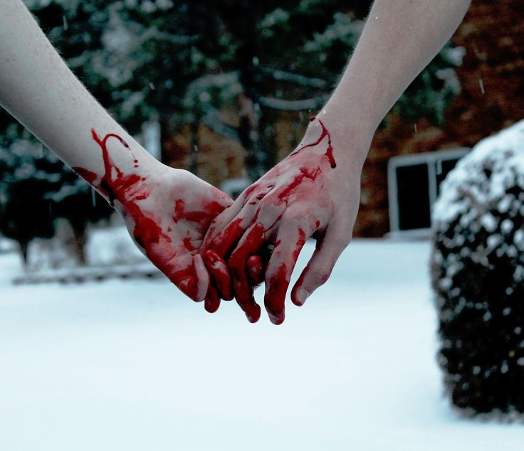 bloody hand holding - photo #19