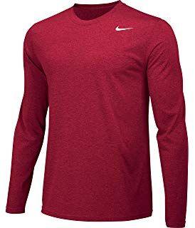 83056916f NIKE Men's LS Crew T-Shirt Dark Grey   Men's Accessories   Nike men ...