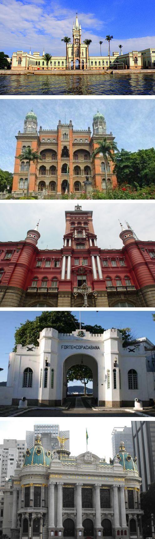 RIO DE JANEIRO - Palácio da Ilha Fiscal - Instituto Oswaldo Cruz - Quartel Central do Corpo de Bombeiros - Forte de Copacabana - Teatro Municipal