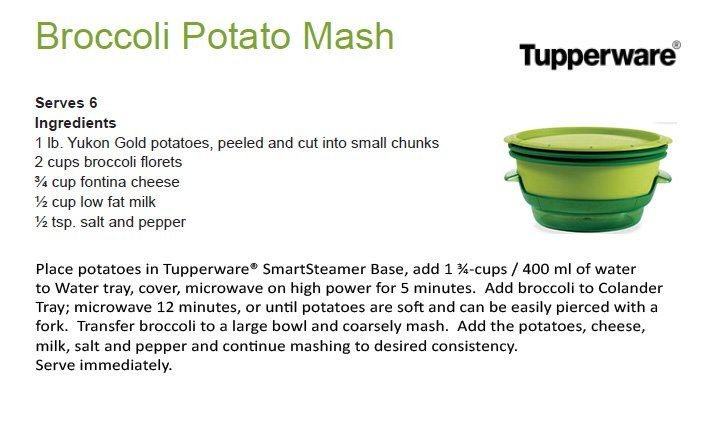 Broccoli Potato Mash...very good and good for you
