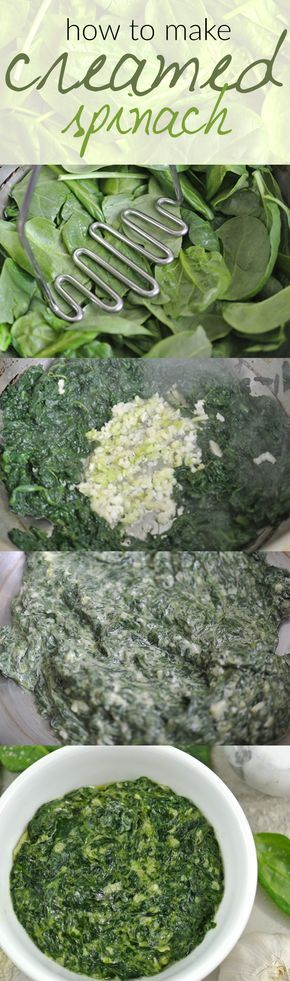 Looking for a low carb side dish? Look no further because this creamed spinach recipe is a healthy and easy choice! @ www.tasteaholics.com - We love making this recipe to go along a low carb dinner like fish or crispy chicken thighs. It's creamy, cheesy and ready in minutes! Pin it for dinner later!
