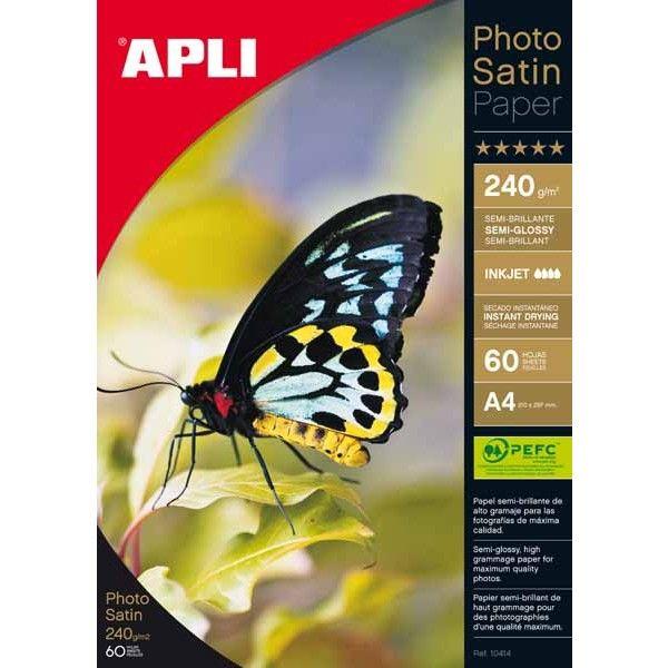 Comprar Papel Fotográfico Satinado A4 240 gr Apli 10415  #oficina #tienda #negocio #casa #hogar #papel #fotografico #profesional #satinado