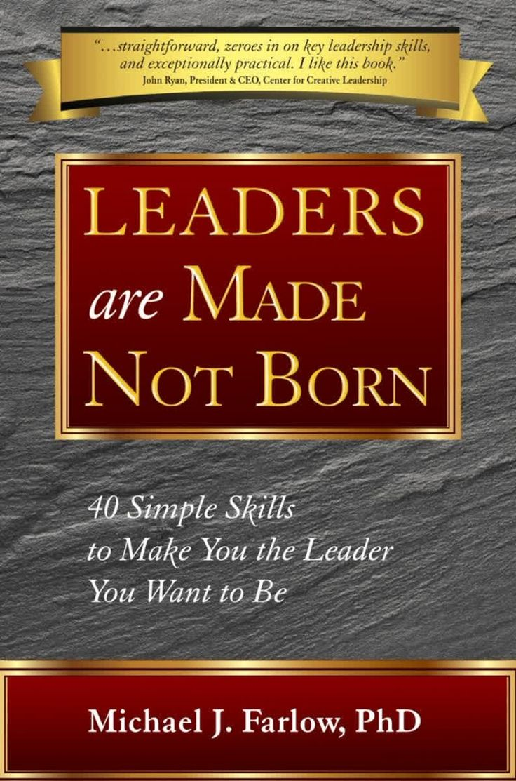"""Dr. Michael J. Farlow's book, """"Leaders are Made Not Born: 40 Simple Skills to Make You the Leader You Want to Be"""" is a realistic and thought-provoking look at the leadership skills you need to bring out the very best in yourself and others.  This book, endorsed by the President of the Center for Creative Leadership, closes the gap between theory and practice by revealing 40 simple skills that can help you be the leader you want to be. We are all capable of becoming great leaders.  What it…"""