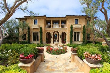 traditional mediterranean yards | ... Yard http://www.houzz.com/photos/1393860/Exterior-Stucco-mediterranean