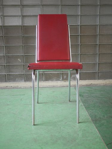 1960s chrome vintage retro chair with red upulstry   Chrome chair in good condition, except for corners that have been damaged by wear. Interesting shape. Any questions ask, free shipping.   If your interested in this item contact Jam@iamjam.net Deal direct through PayPal and pay less, make me an offer