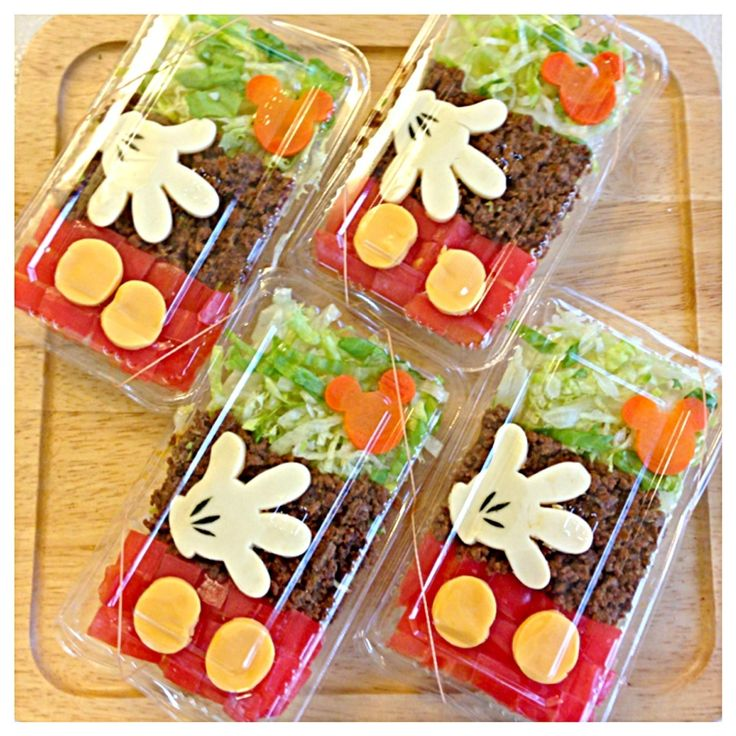 Mickey (^ - ^) Taco rice boxed lunch
