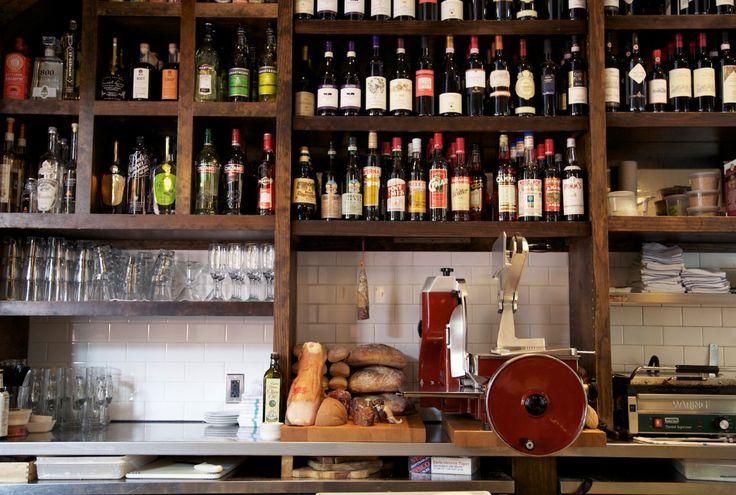 Wine selection at Coppa Boston