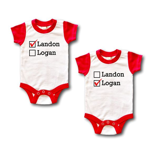 Best 25 twin baby gifts ideas on pinterest homemade baby gifts twin baby clothes twin personalized outfit matching twin negle Images
