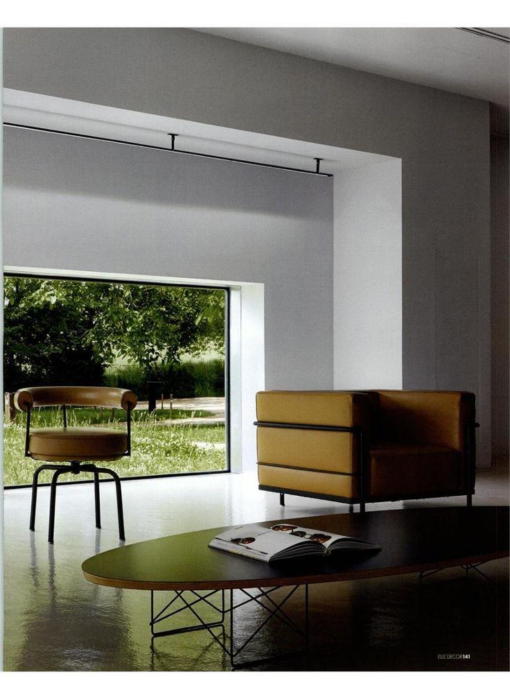 ELLE DECOR - LC3 and LC7, design Le Corbusier, Jeanneret, Perriand