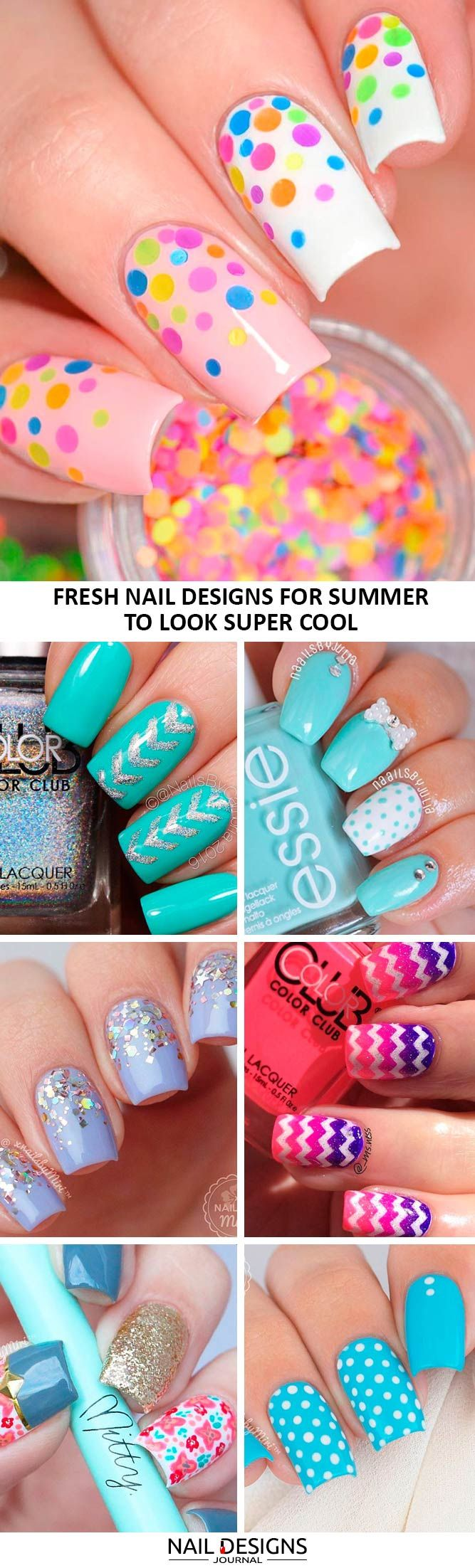 See the trendiest nail designs for summer 2017!