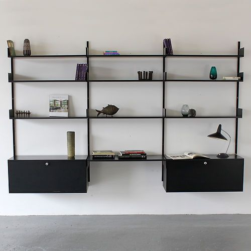 606 shelving system by dieter rams 1960 vitsoe regal system made in germany ebay meble. Black Bedroom Furniture Sets. Home Design Ideas