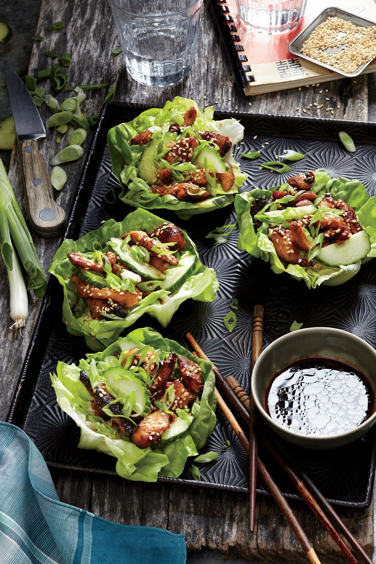 Chicken lettuce wraps are an adventurous way to introduce new flavors and cuisines to your table of eaters. They're a lot like tacos—handheld and highly customizable—and often very fast to prepare. For this Korean-inspired version, we let chicken marinate in big-flavor ingredients—gochujang, sesame oil, soy sauce, and brown sugar. Think of gochujang as Korean steak sauce, adding savory depth to the chicken. You can find it at many supermarkets, or substitute equal parts Sriracha and…