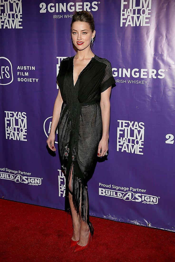 Amber Heard in Ulyana Sergeenko at the Texas Film Awards.