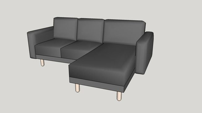 Ikea NORSBORG two-seat sofa with chaise longue - 3D Warehouse