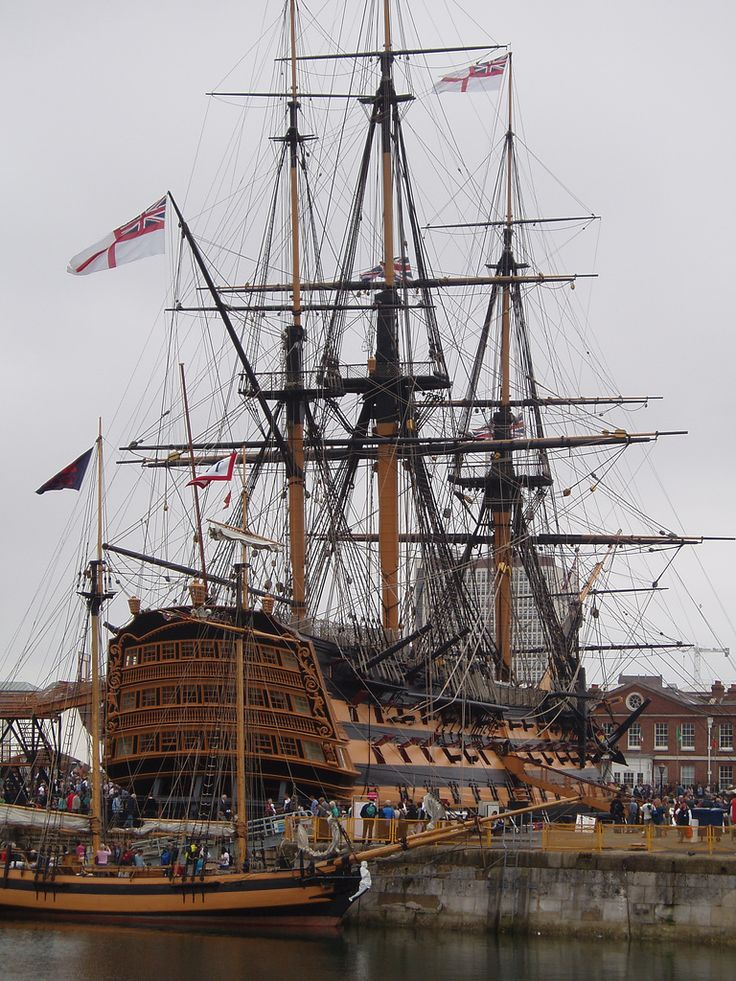 HMS Victory at Portsmouth // unfortunately i just saw it from outside// - UK