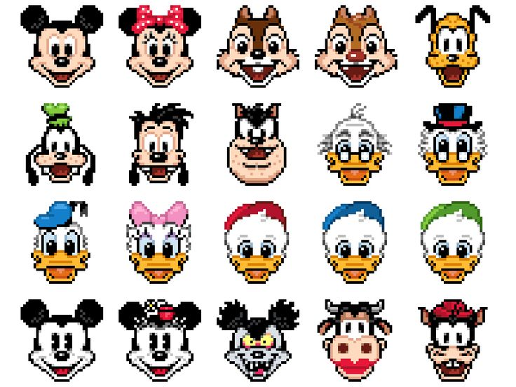 Cómo Dibujar El Pato Donald En La Versión Disney Tsum Tsum: 31 Best Pixel Art Images On Pinterest