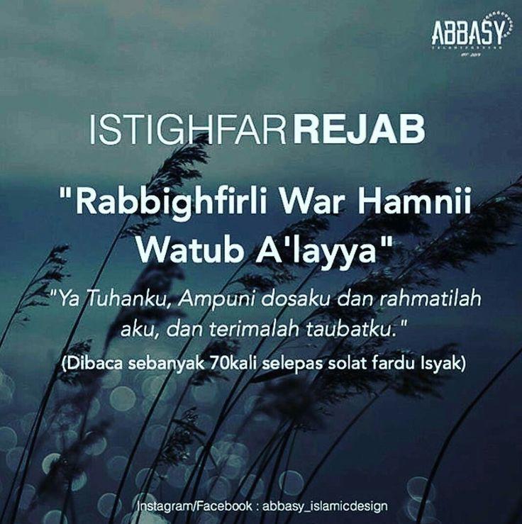 ISTIGHFAR REJAB