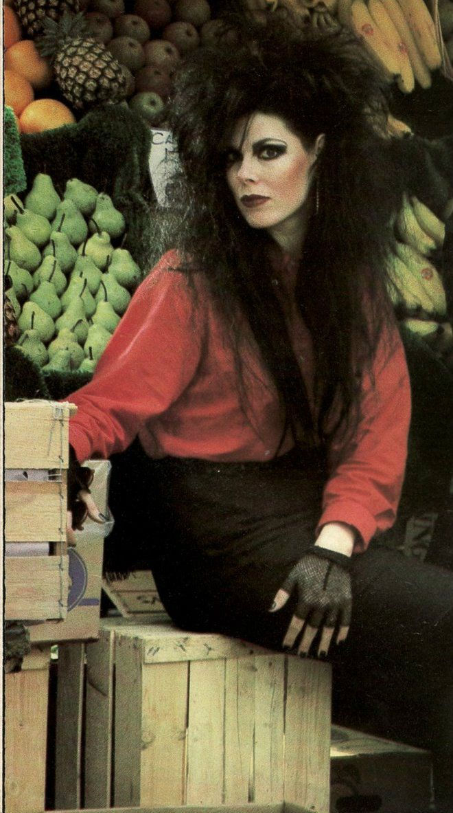 Patricia Morrison; even out shopping for fruits you had to have your hair right!