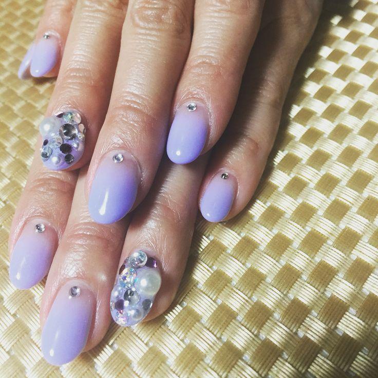 purple gradation nails
