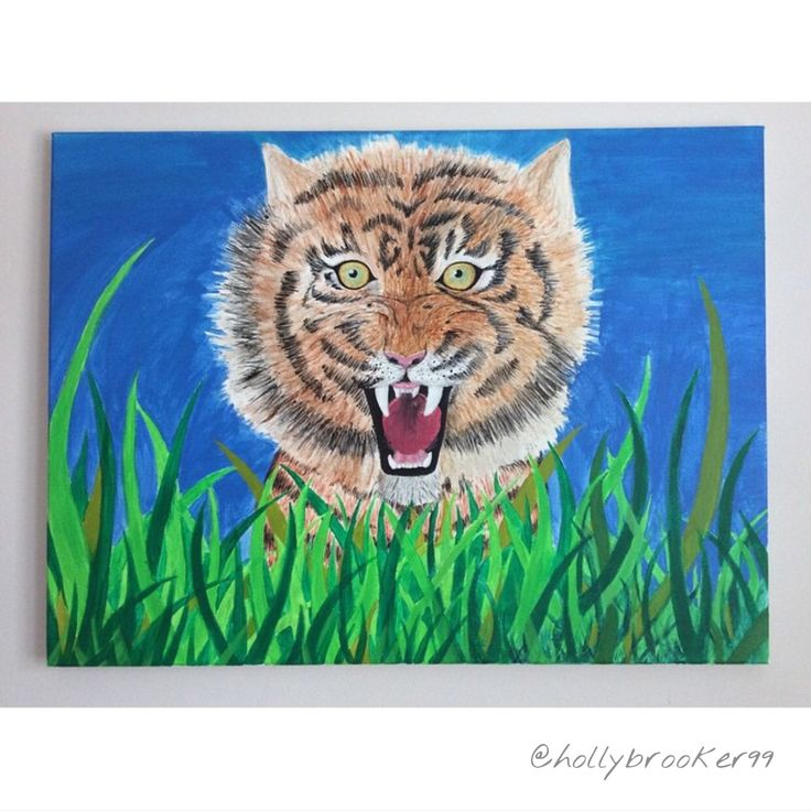 5 Hour Final Piece, Acrylic Tiger - Holly Brooker