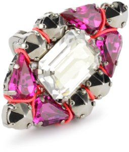 """LK Designs """"Summer Breeze"""" Multi-Color Neon Coral Legend Adjustable Ring LK Designs. $22.75. Multi-color stones with gold studs and finish. Gold ring with the perfect trendy neon touch adjustable in size to 5.5-7.5. Made in Israel"""