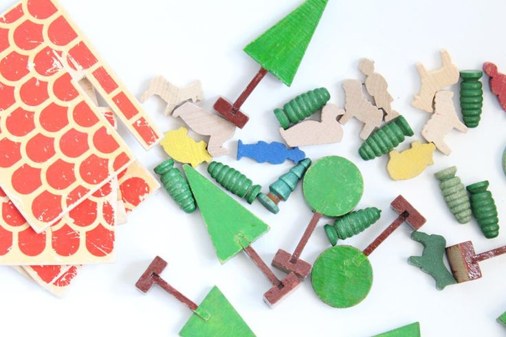Vintage Holzspielzeug - Vintage Holz Spielzeug Bauernhof Tiere DDR - ein Designerstück von VintageWarenhaus bei DaWanda