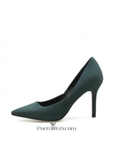 Suede Hunter Green High Heels For Prom
