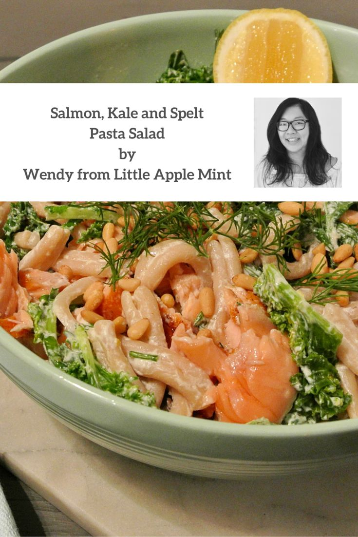Try cooking this delicious pasta salad made by Angelo's Pasta Feature Foodie, Wendy from Little Apple Mint food blog. The Salmon, Kale and Spelt pasta salad is quick and easy making it the perfect meal for your next dinner party. It is sure to receive rave reviews all 'round!
