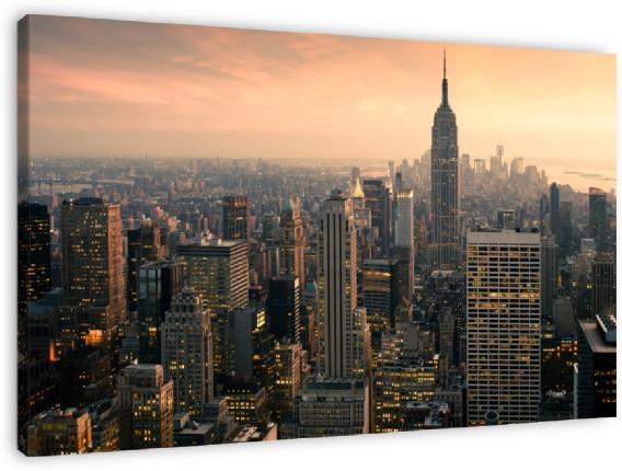 New York Panorama van Jesse Kraal, op dibond, canvas, ingelijst of als poster.