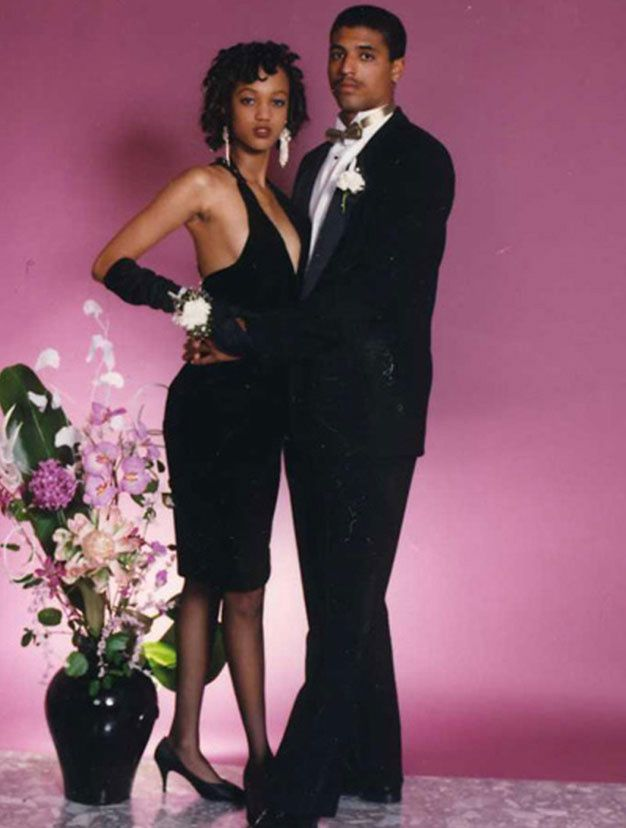 Tyra Banks jeune au bal de promo